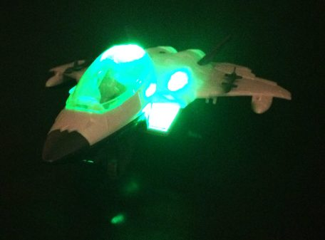 Fighter Jet Toy Side Lit Up