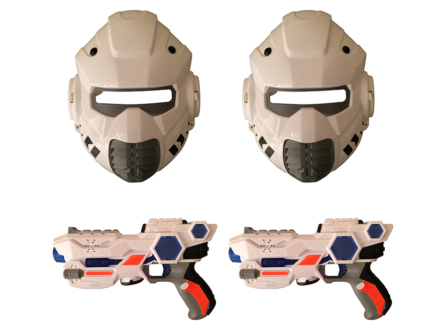Space Wars Double Gun Mask Set