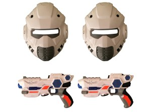 Space Wars Double Gun Mask Set