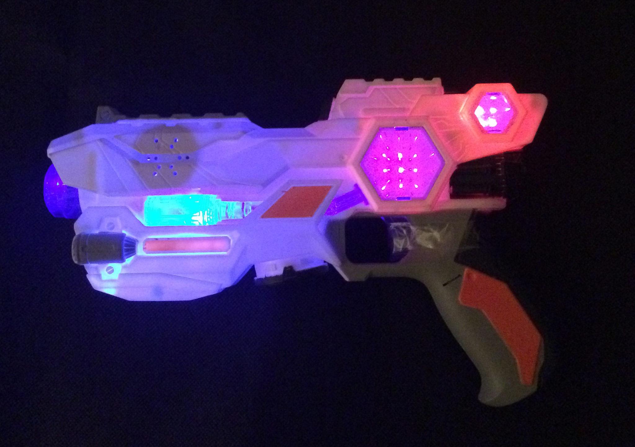 Space Wars Blaster Lit Up