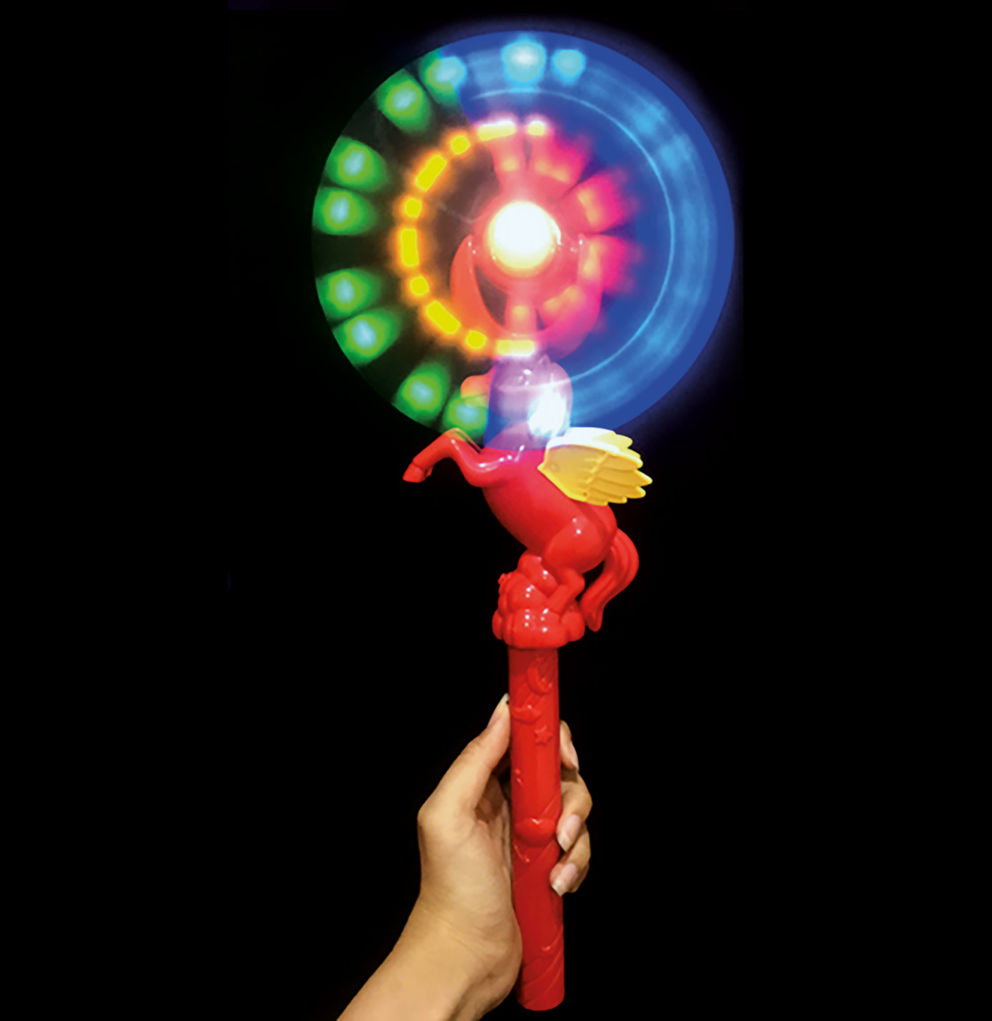 Unicorn Swivel Fan Wand