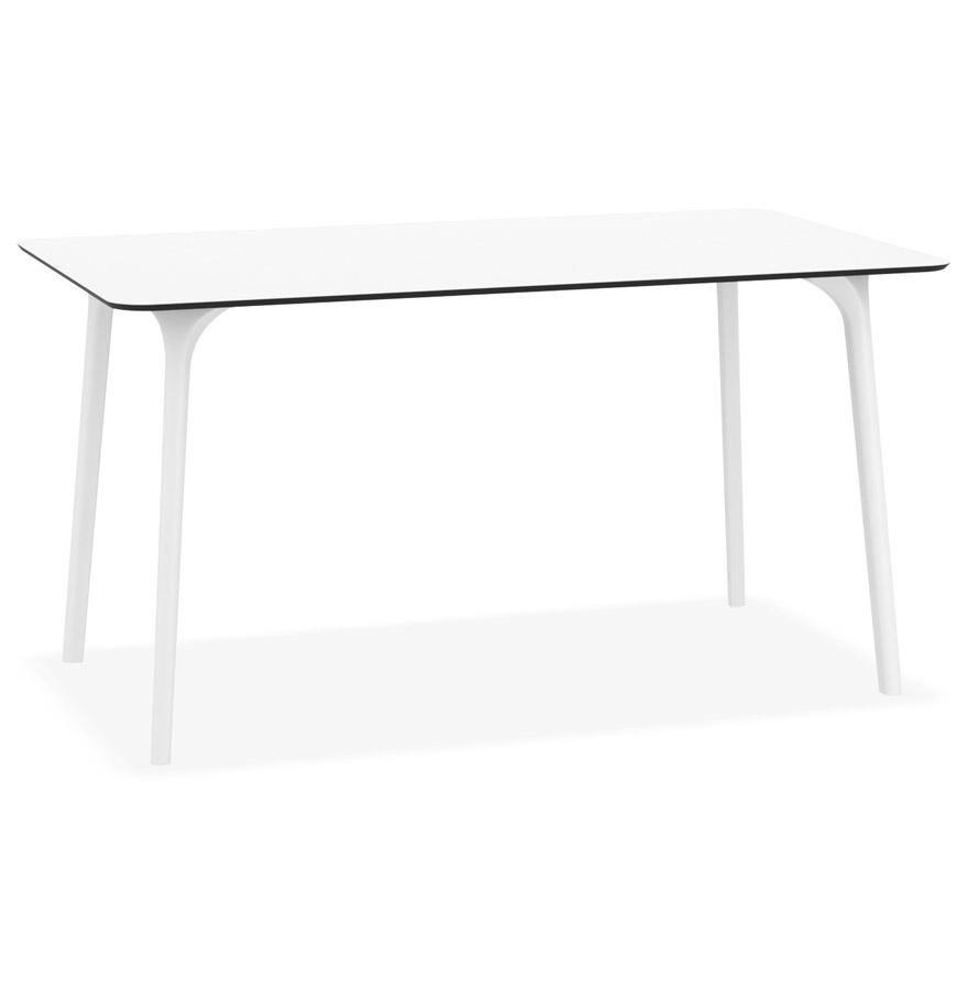 table de jardin design lagoon blanche interieur exterieur 140x80 cm by alterego design