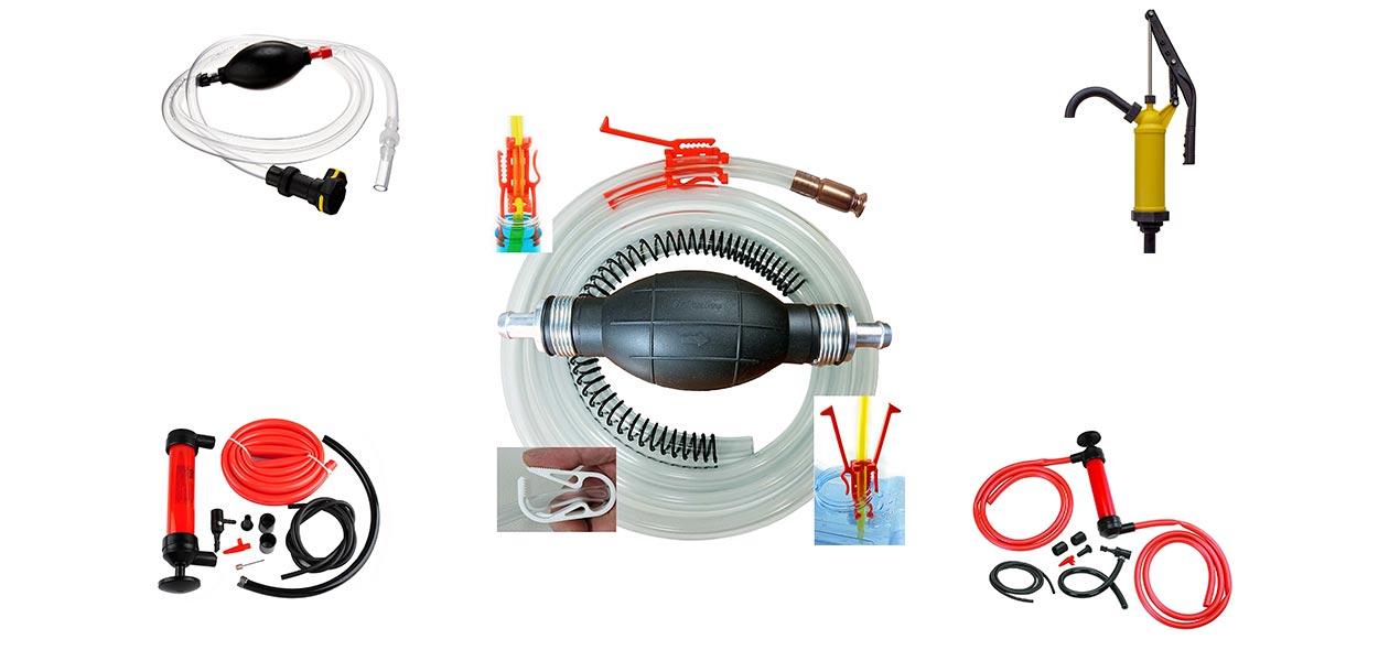 Wadoy Jiggle Syphon Pump 6 Foot High Grade,3//4 Valve for Gas//Gasoline//Fuel Transfer Self Priming Syphon Pump