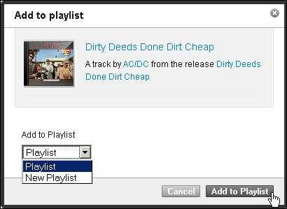 Einen Song zu seiner Last.fm-Playlisthinzufügen - Klick 3