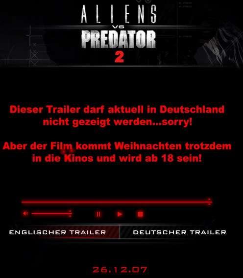 Alien vs Predator 2 - Wie Sie sehen, sehen Sie nichts.