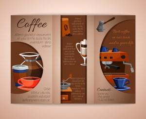 Coffee brochure tri-fold