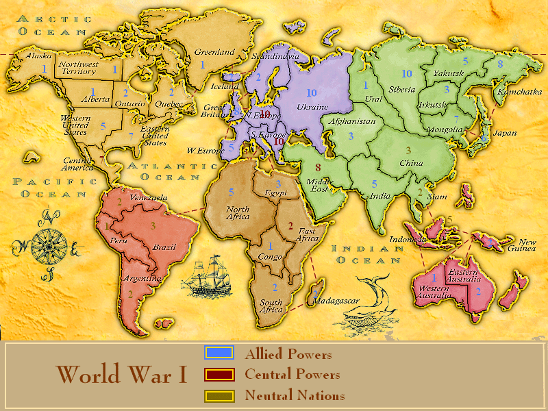 Alternate History Map Game