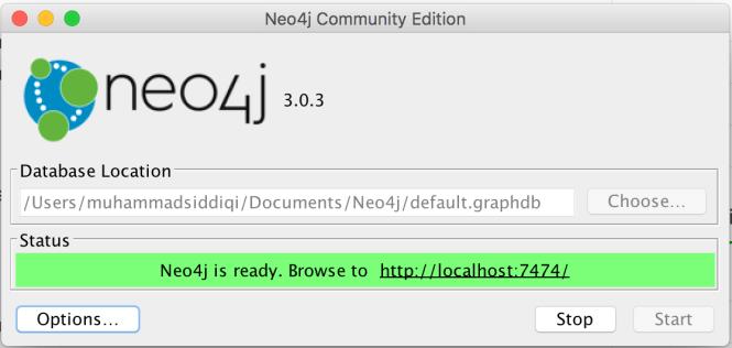 neo4j server launch