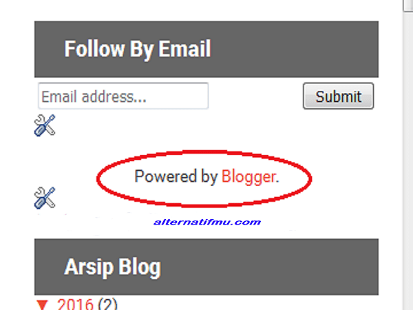 Cara menghapus widget Powered by Blogger mudah