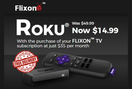 Flixon TV Review: Get A Roku For Only $14.99 With Subscription