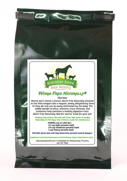 Worm Free Naturally-Natural Horse DeWormer