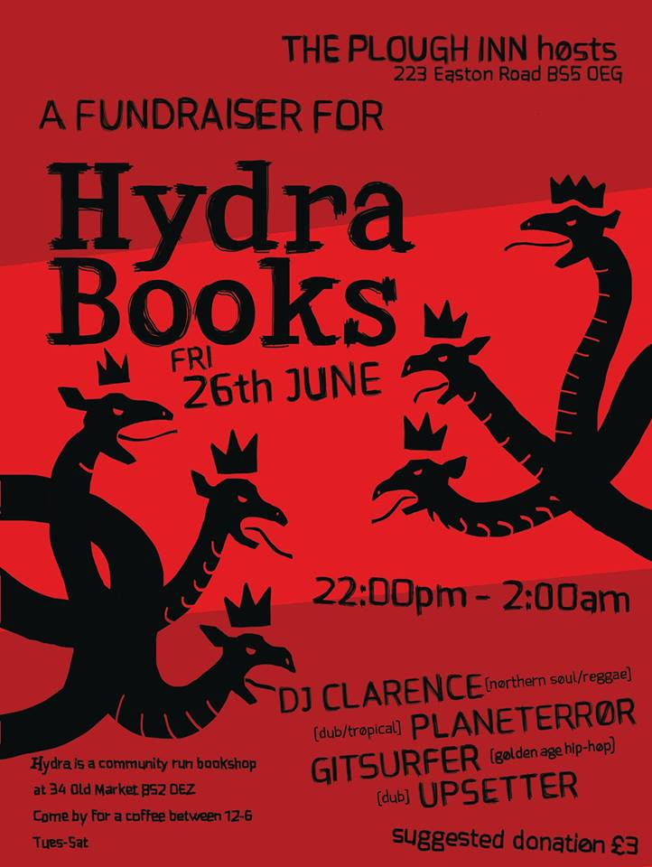 Hydra Fundraiser at the Plough!
