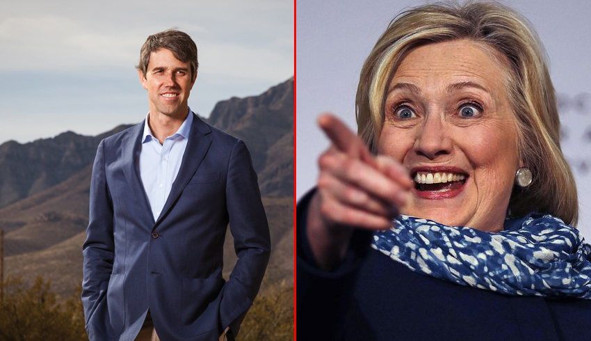 Hillary Clinton Assures Beto O'Rourke DNC Forcing Him on Everyone is Winning Strategy