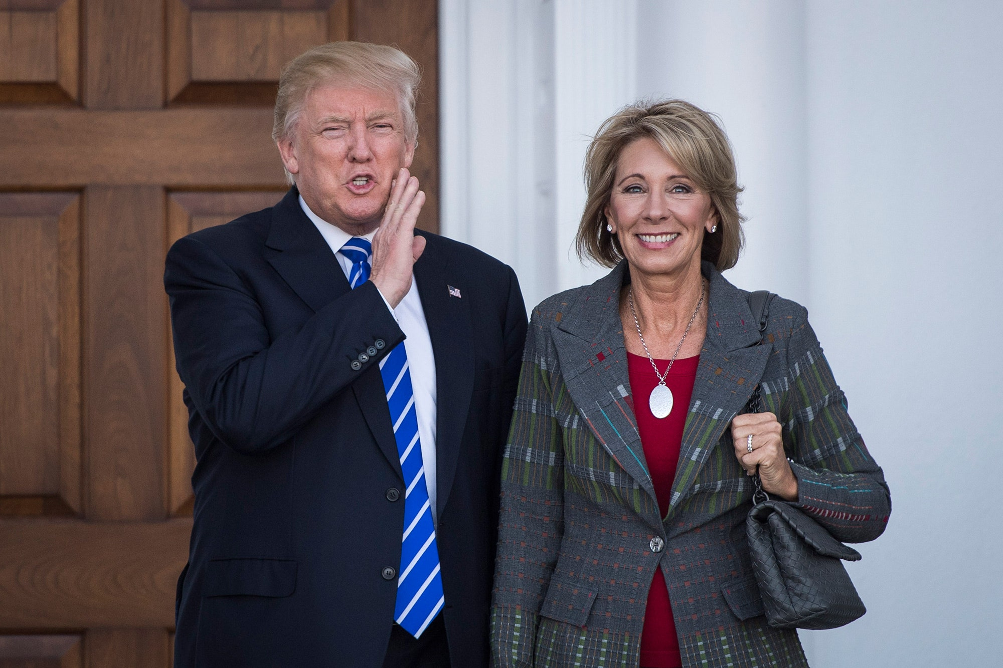 DeVos Trying to Teach Trump How to Read and Write So He Can Write His Presidential Memoir