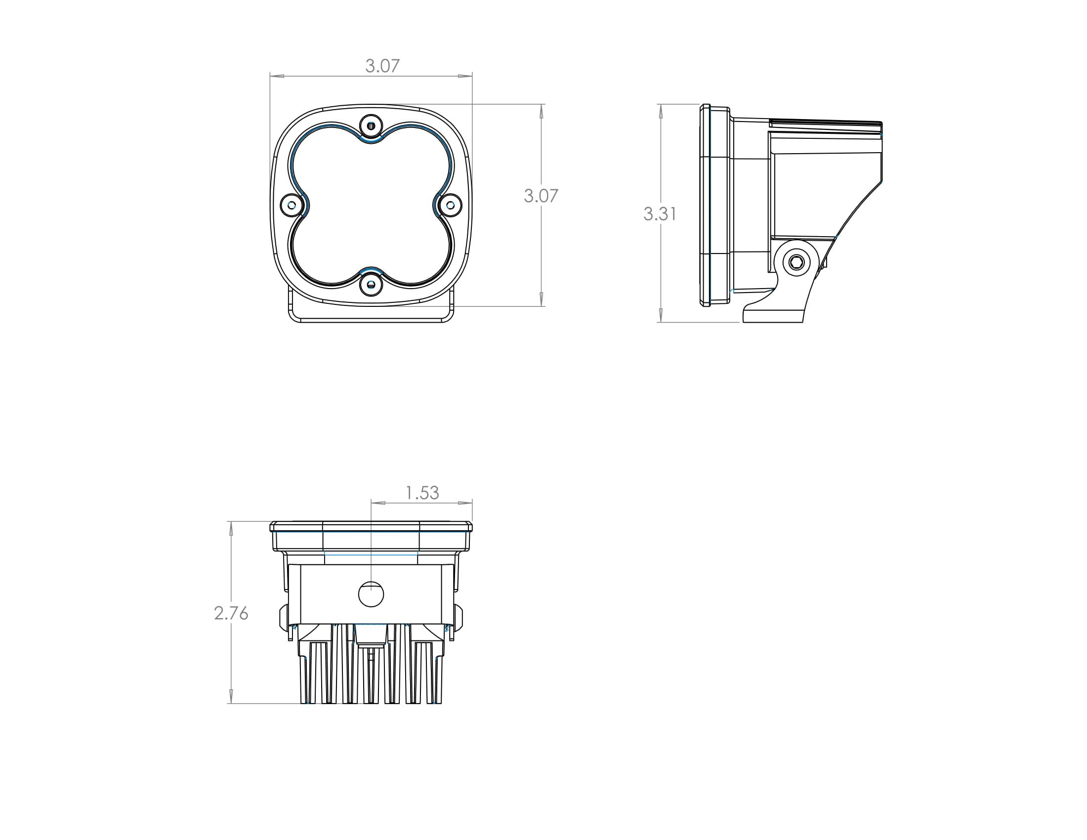 Baja Designs Xl80 80 Watt Led Auxiliary Light Pair W Harness