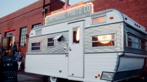 The Lamphouse Photo company vintage van