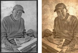 Paper negatives using tracing paper and oil