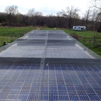 8 panel series / parallel solar panel system. 120 volt DC