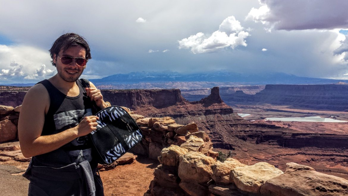 He even got to see Dead Horse Point! Kind of...