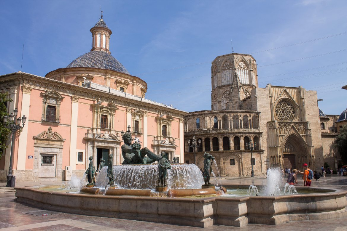 Main Square in Valencia, Spain