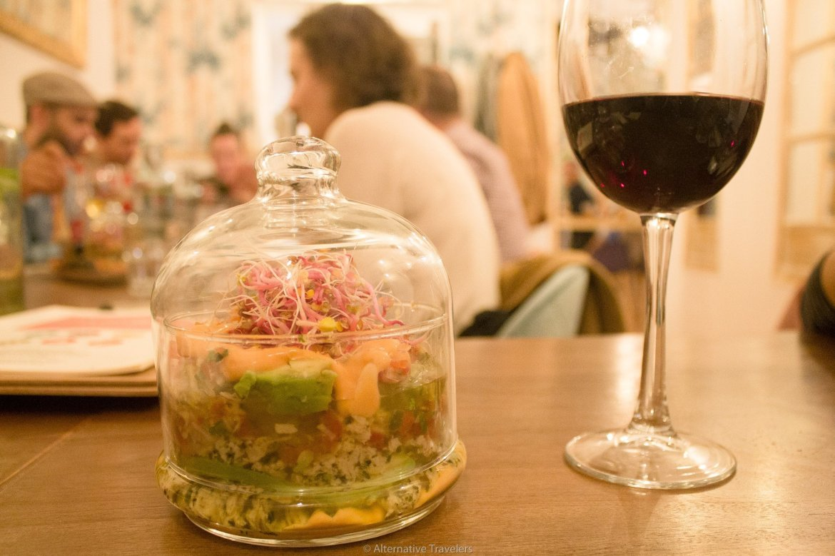 Tartare a la chilena at La Tia Carlota Vegan Gastrobar in Madrid | AlternativeTravelers.com