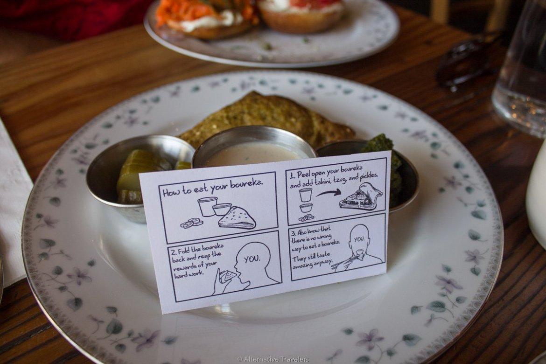 vegan Boureka at Aviv - our choice for best vegan breakfast in Portland.