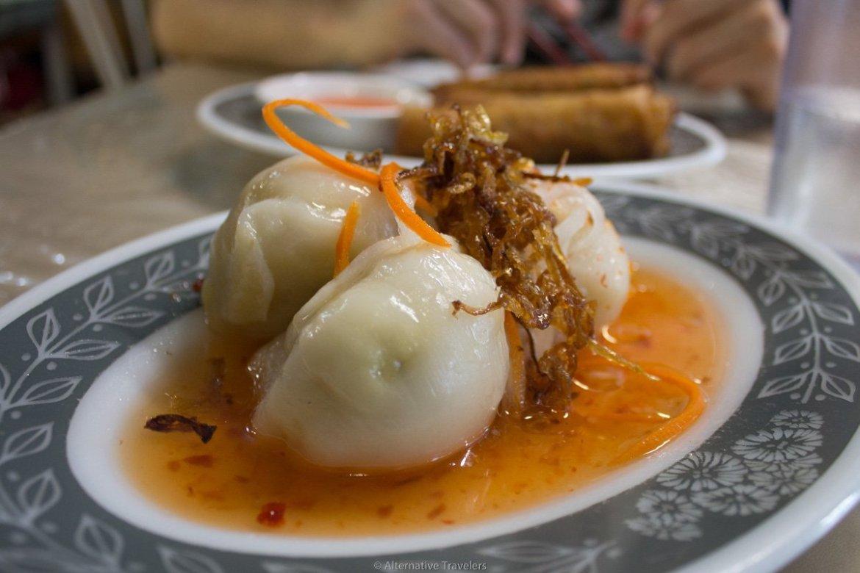 vegan Vietnamese dumplings at Van Hanh Vegetarian in Portland.