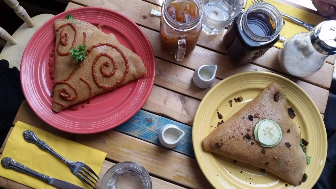 vegan and gluten free crepes for vegan brunch at Lil Choc Apothecary in Williamsburg