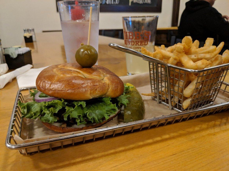 Vegan Burger at Hops Burger bar