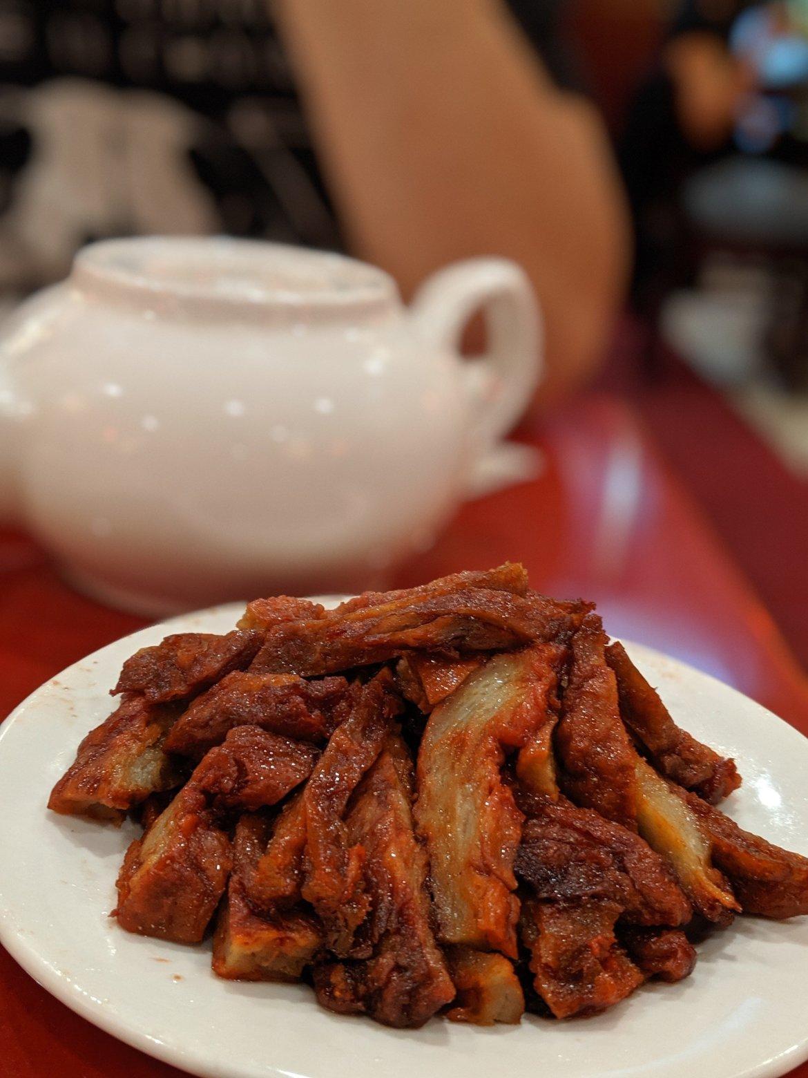 vegan bbq pork at buddha bodai