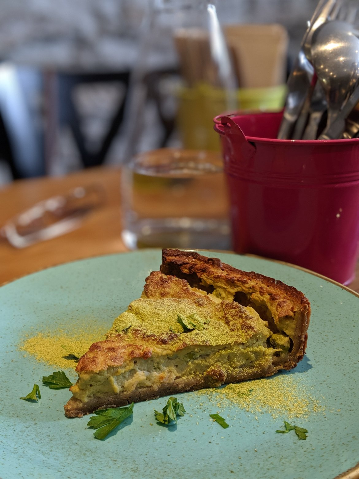 vegan quiche in Nantes, France at Totum