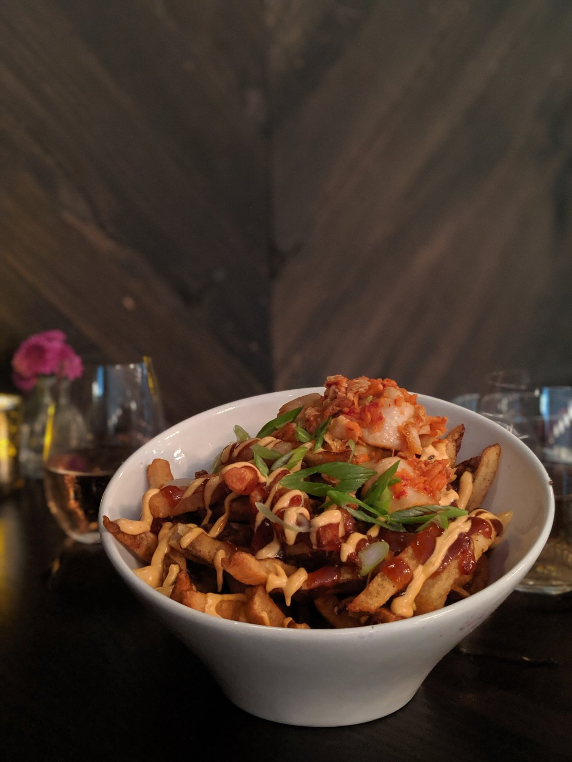 vegan kimchi fries at Modern Love in New York