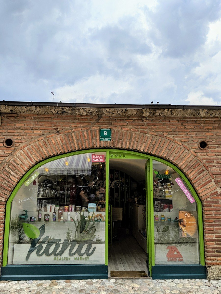 Kana health food store in Sarajevo