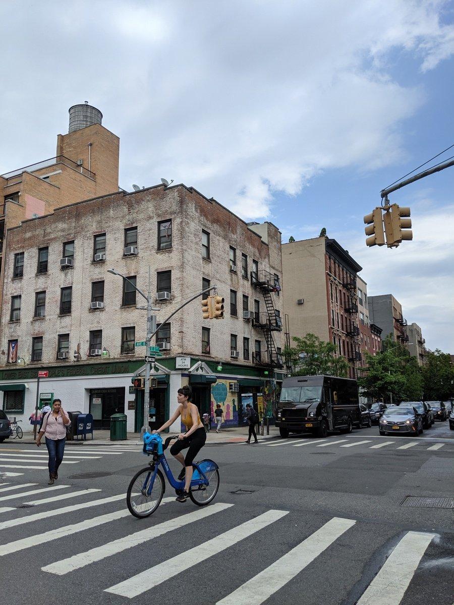 biker in Alphabet City, NYC