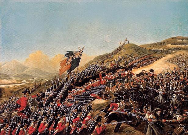 Erstürmung einer russischen Artilleriestellung durch britische Infanterie