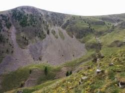 La crête de Corpatas sous le Mont Honorat