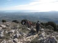 Club de randonnée 06, Altiplus; 27 novembre 2016 : le Pic de Courmettes et le Puy de Tourrettes, en allant au Pic de Courmettes