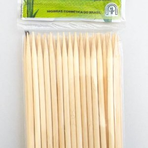 Palito bambu higibras 14 cm ponta ch com 50 pcs ref. 990