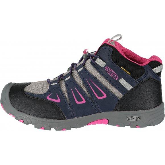 5102d9cda5f Dětské turistické boty Keen Oakridge Mid WP JR s voděodolným svrškem jsou  vhodné pro volnočasové aktivity