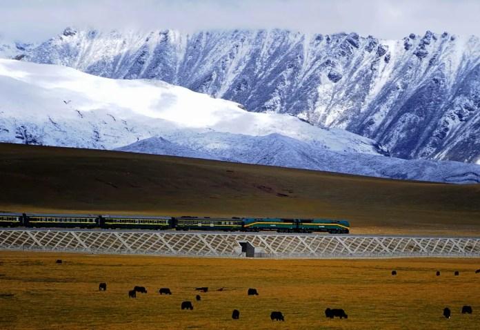 Entre Golmud et Lhassa (Tibet, Chine)