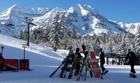 station de ski front de neige