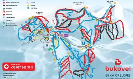 pistes de ski à Bukovel