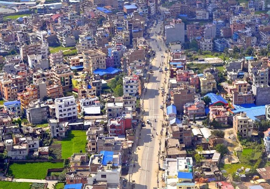 Katmandou, Népal, vue du ciel