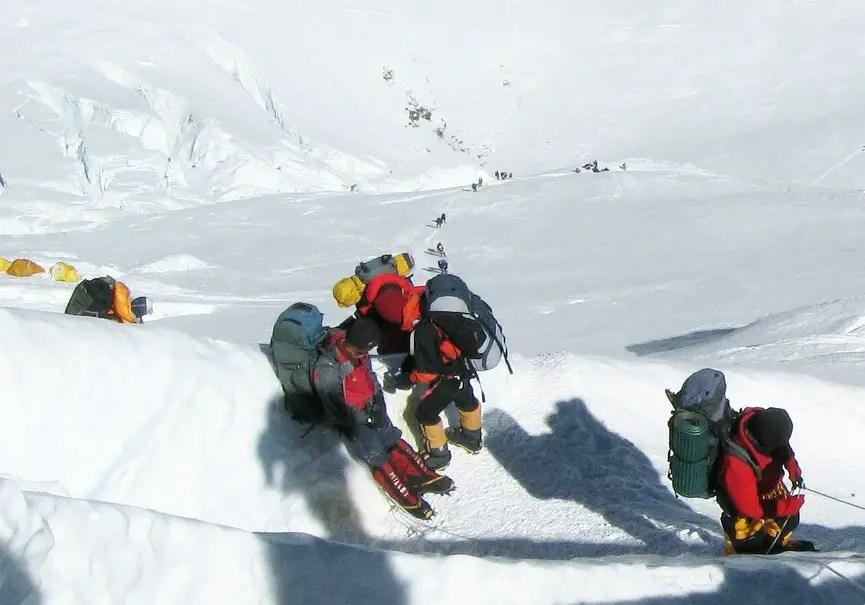 les clients des expéditions Everest
