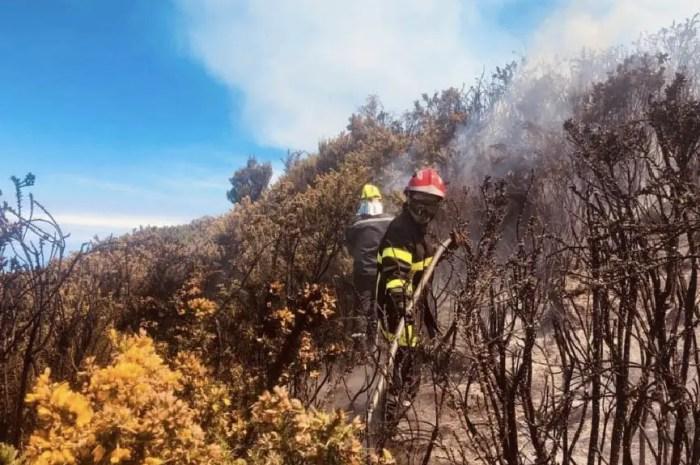 Les montagnes de La Réunion en proie aux flammes !