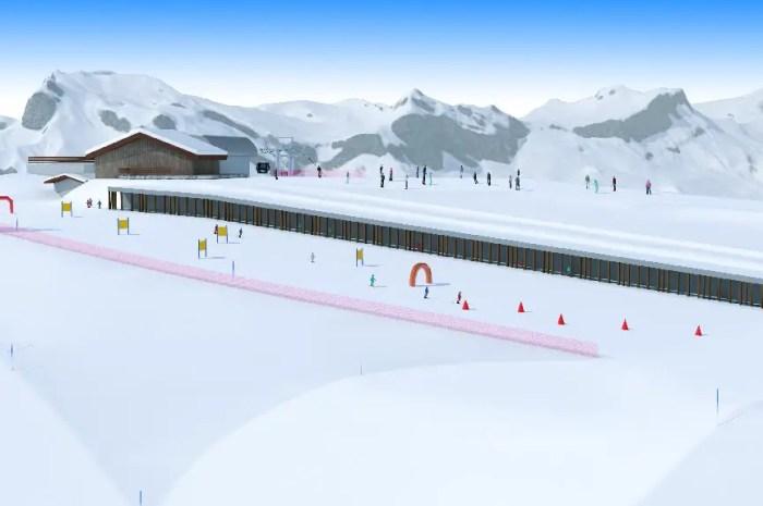 Tapis roulant enterré pour les skieurs de Saint Gervais Mont-Blanc !