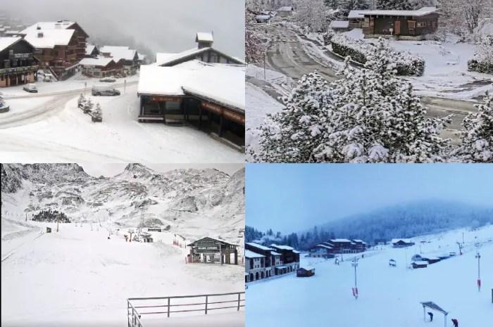 La neige est enfin arrivée sur les montagnes françaises !