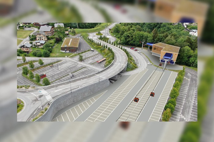 Le projet d'ascenseur valléen de Saint Gervais commence à prendre forme