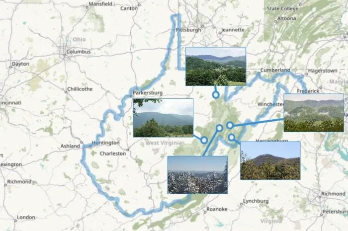 Top 5 des paysages de Virginie Occidentale : l' « Etat de la Montagne » ?