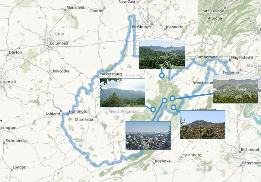 Montagnes de Virginie Occidentale